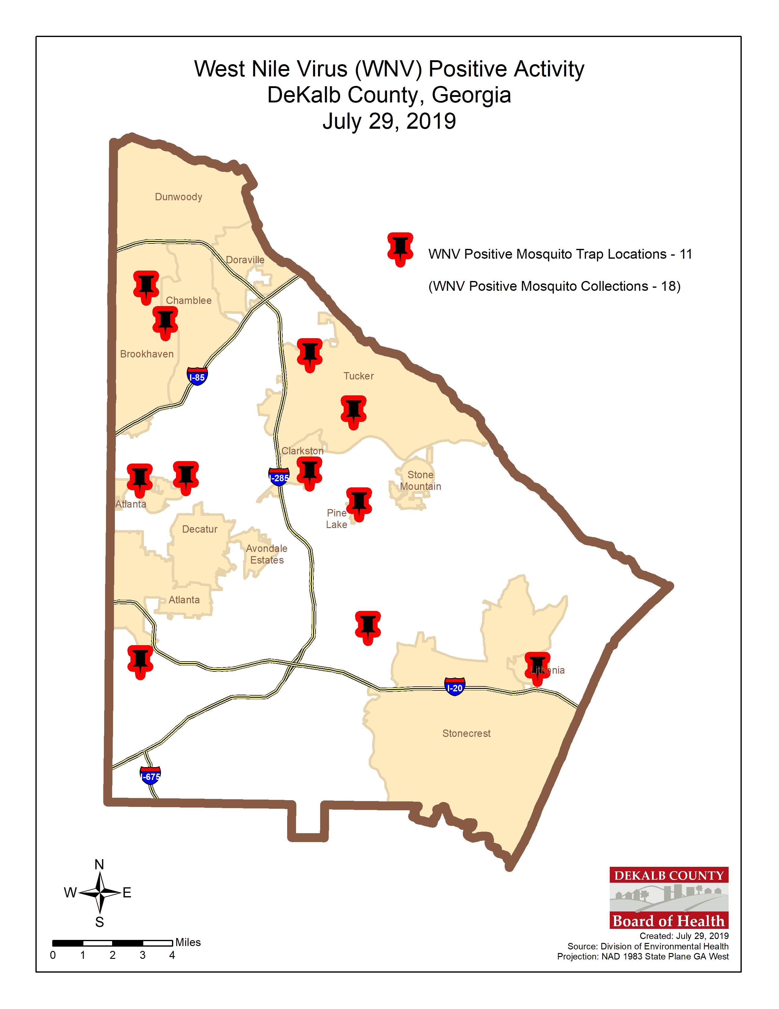 Mosquitoes in 11 areas in DeKalb County test positive for ... on echols county map, gwinnett county map, bolingbrook county map, cook county map, dooly county map, orange county county map, letcher county map, atlanta map, riley county ks map, dekalb al, burbank county map, lanier county map, chariton county map, daviess county map, cobb county map, long county map, piatt county map, fulton county map, nodaway county map, georgia map,
